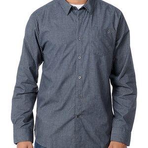 Volcom X-Factor Black Stripe Long Sleeve Shirt - M